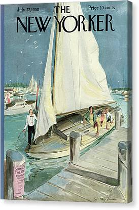 1950 Canvas Print - New Yorker July 22nd, 1950 by Garrett Price