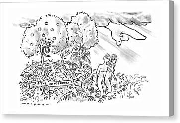 New Yorker July 22nd, 1996 Canvas Print by Bill Woodman