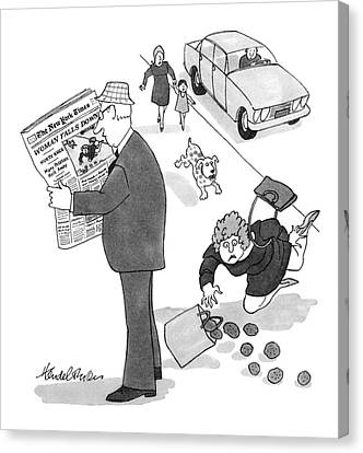 New Yorker July 23rd, 1979 Canvas Print by J.B. Handelsman