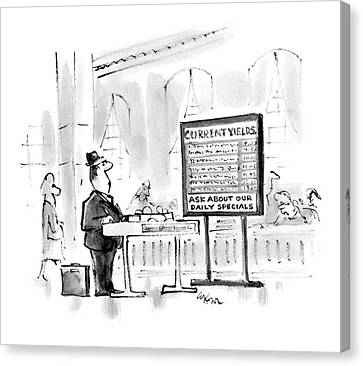 New Yorker July 23rd, 1984 Canvas Print by Lee Lorenz