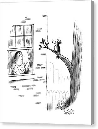 New Yorker July 24th, 1995 Canvas Print by Sam Gross