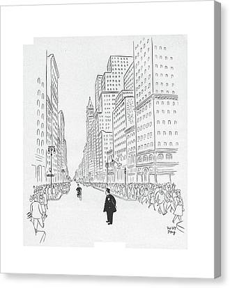Traffic Enforcement Canvas Print - New Yorker July 25th, 1942 by Robert J. Day