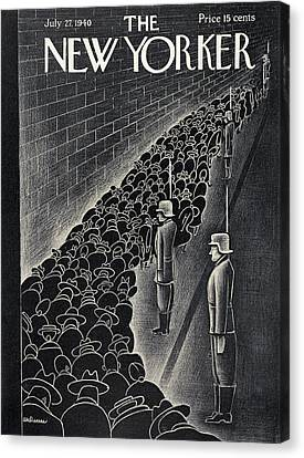 Concentration Canvas Print - New Yorker July 27th, 1940 by Christina Malman