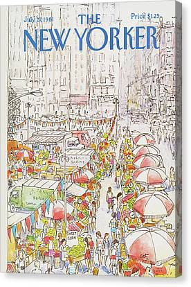 New Yorker July 27th, 1981 Canvas Print by Arthur Getz