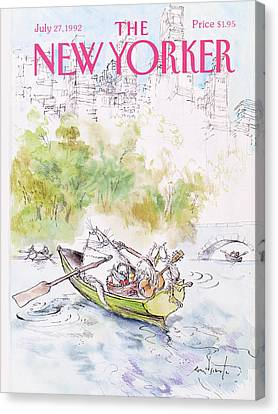 Nursery Rhymes Canvas Print - New Yorker July 27th, 1992 by Ronald Searle
