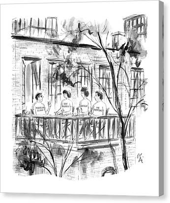 New Yorker July 28th, 1986 Canvas Print by Everett Opie