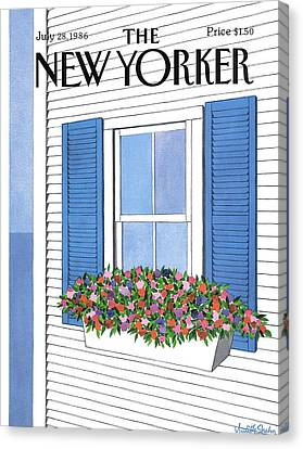 New Yorker July 28th, 1986 Canvas Print by Judith Shahn