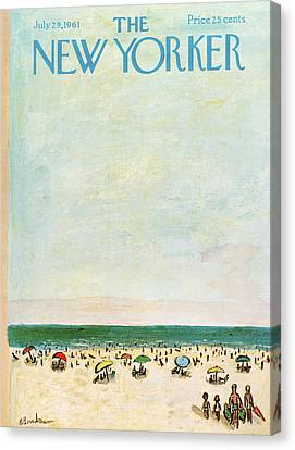 New Yorker July 29th, 1961 Canvas Print by Abe Birnbaum