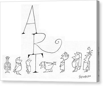 New Yorker July 2nd, 1960 Canvas Print by Saul Steinberg