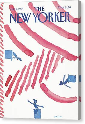1984 Canvas Print - New Yorker July 2nd, 1984 by R.O. Blechman