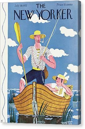 New Yorker July 30th, 1932 Canvas Print by Ilonka Karasz