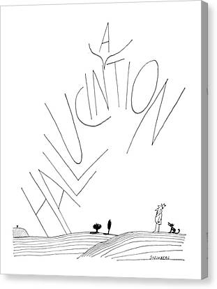 New Yorker July 30th, 1966 Canvas Print by Saul Steinberg