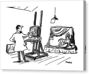 Computer Graphics Canvas Print - New Yorker July 30th, 1990 by Frank Modell