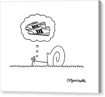 Jogging Canvas Print - New Yorker July 31st, 1978 by Charles Barsotti