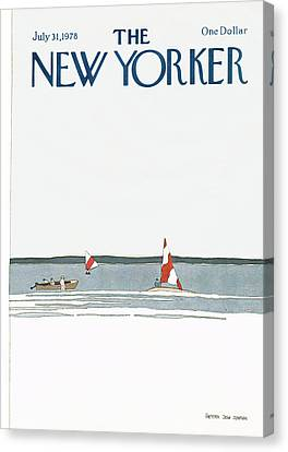 New Yorker July 31st, 1978 Canvas Print by Gretchen Dow Simpson