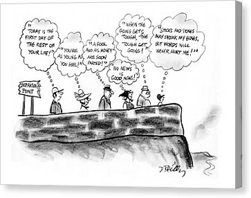 Inspiration Point Canvas Print - New Yorker July 3rd, 1978 by Donald Reilly