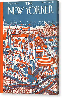 New Yorker July 4th, 1925 Canvas Print by Ilonka Karasz