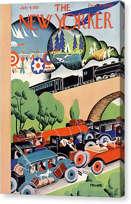 New Yorker July 4th, 1931 Canvas Print