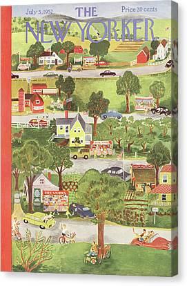 New Yorker July 5th, 1952 Canvas Print by Ilonka Karasz