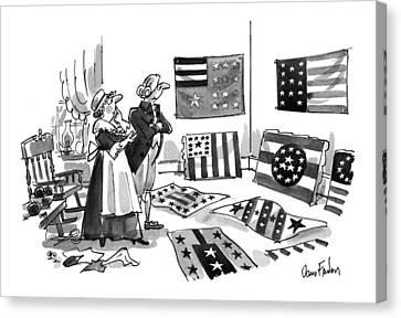 New Yorker July 5th, 1993 Canvas Print by Dana Fradon