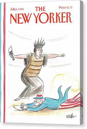 New Yorker July 6th, 1992 Canvas Print by Warren Miller