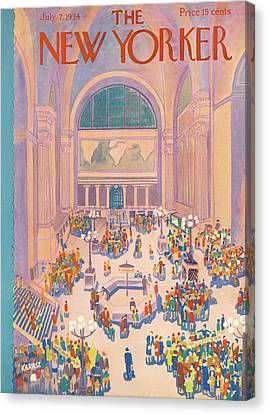 New Yorker July 7th, 1934 Canvas Print by Ilonka Karasz