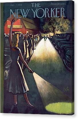 New Yorker July 7th, 1956 Canvas Print by Arthur Getz