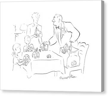 Candidate Canvas Print - New Yorker July 8th, 1944 by Garrett Price