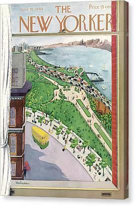 New Yorker June 10th, 1944 Canvas Print by Christina Malman