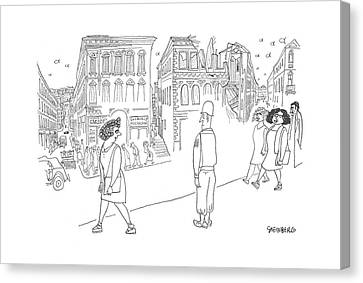 New Yorker June 10th, 1944 Canvas Print by Saul Steinberg