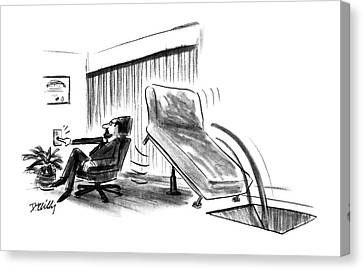 Slide Canvas Print - New Yorker June 10th, 1991 by Donald Reilly