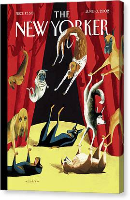 Curtains Canvas Print - New Yorker June 10th, 2002 by Mark Ulriksen