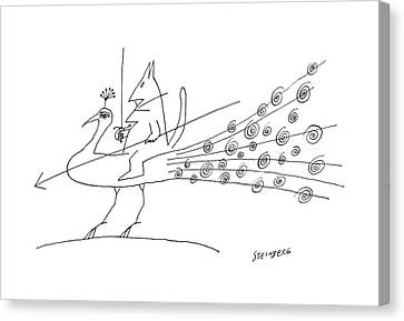 New Yorker June 11th, 1960 Canvas Print by Saul Steinberg