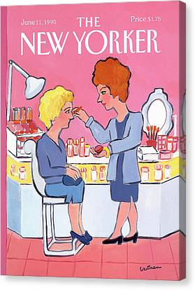 New Yorker June 11th, 1990 Canvas Print by Barbara Westman