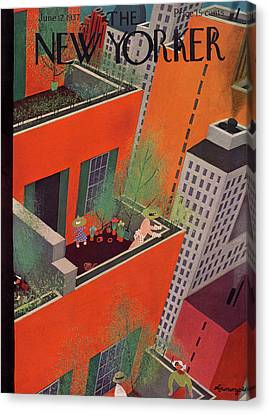 New Yorker June 12th, 1937 Canvas Print by Adolph K. Kronengold