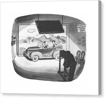 Cardboard Canvas Print - New Yorker June 12th, 1943 by Robert J. Day