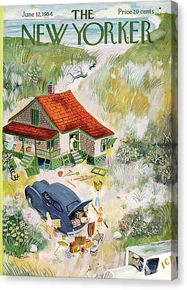 New Yorker June 12th, 1954 Canvas Print by Roger Duvoisin