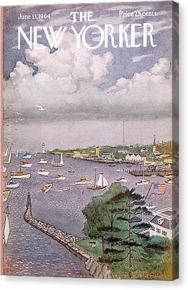 New Yorker June 13th, 1964 Canvas Print by Albert Hubbell