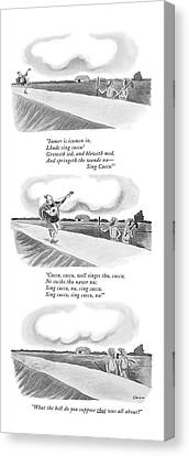 New Yorker June 13th, 1970 Canvas Print by William O'Brian