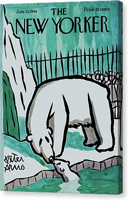 Zoo Animals Canvas Print - New Yorker June 15th, 1968 by Peter Arno