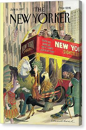 New Yorker June 16th, 1997 Canvas Print by Edward Sorel