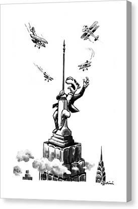 New Yorker June 16th, 1997 Canvas Print by Eldon Dedini