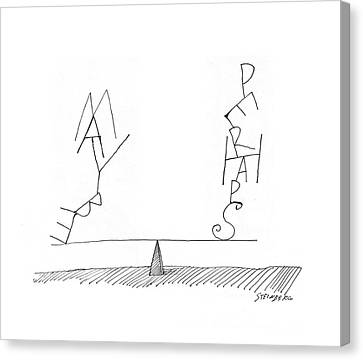 New Yorker June 18th, 1960 Canvas Print by Saul Steinberg