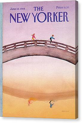1984 Canvas Print - New Yorker June 18th, 1984 by Susan Davis