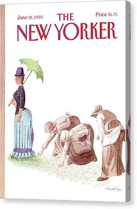 The Gleaners Canvas Print - New Yorker June 18th, 1990 by J B Handelsman
