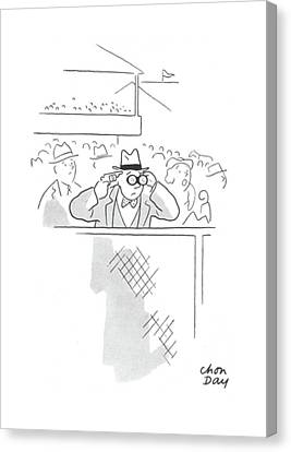 Break Fast Canvas Print - New Yorker June 20th, 1942 by Chon Day