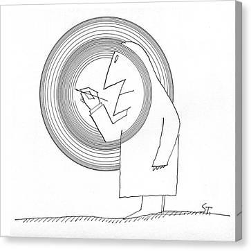 New Yorker June 20th, 1964 Canvas Print by Saul Steinberg