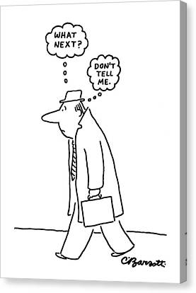 Insecurity Canvas Print - New Yorker June 20th, 1977 by Charles Barsotti