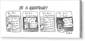 New Yorker June 20th, 1983 Canvas Print by Roz Chast
