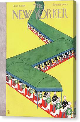 New Yorker June 21st, 1930 Canvas Print by Gardner Rea